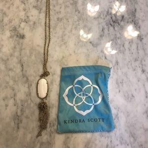 White Rayne long pendant necklace